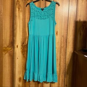 Torrid Teal Lace Dress